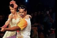 Bollywood Actors Cyrus Broacha and Kalki Koechlin walk the ramp as showstoppers