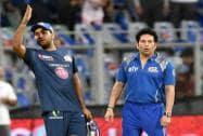 Sachin Tendulkar and Rohit Sharma