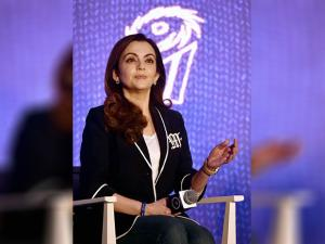 Nita Ambani during the launch of Diesel-Mumbai Indians collection