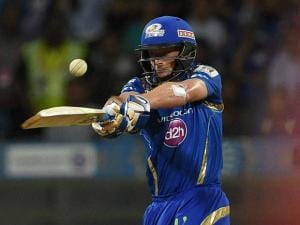 Mumbai Indians player Joe Buttler in action during the IPL match against Royal Challengers Bangalore in Mumbai 2