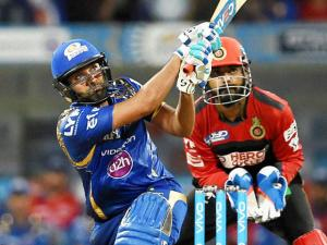 Mumbai Indians player Rohit Sharma in action during the IPL match against Royal Challengers Bangalore in Mumbai (3)