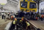 Mumbai Local Train Crashes Into Platform at Churchgate Station