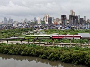 A monorail rake broke down due to a technical snag in Mumbai