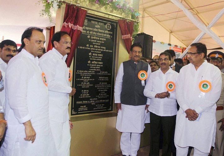 Maharashtra Chief Minister, Prithviraj Chavan, Union Minister, Venkaiah Naidu, Deputy CM, Ajit Pawar, ground, breaking, ceremony, third phase, Mumbai's, underground, metro rail