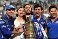 Mumbai Indians owner Nita Ambani along with team mentor Sachin Tendulkar, coach Ricky Ponting a