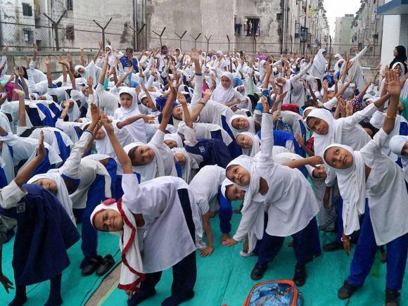 Yoga, Muslim, Muslim Yoga Teacher, International Yoga Day, BJP President, Amit Shah, Yoga Camp, Narendra Modi, Muslim Girls, Surat, Ahmedabad