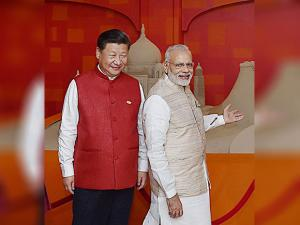 BRICS leaders Narendra Modi with  Chinese President Xi Jinping