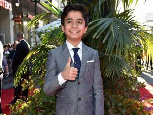 Neel Sethi arrives at the premiere of The Jungle Book at the El Capitan Theatre on Monday, April 4, 2016, in Los Angeles.