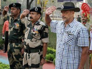 Nana Patekar  visit to BSF's Paloura camp