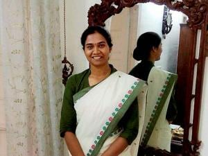 File photo of Karnataka's Nandini K R who got the first rank in the Civil Services Exams 2016
