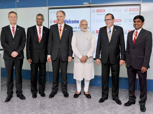Robert Bosch Engineering, Merkel in Bengaluru, PM Modi Angela Merkel, Bengaluru, Bosch, Nasscom, PM Modi, German Chancellor, German language