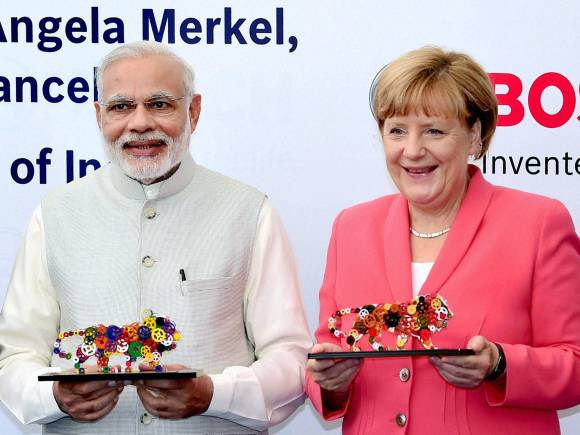 Merkel in Bengaluru, PM Modi Angela Merkel, Bengaluru, Bosch, Nasscom, PM Modi, German Chancellor, German language