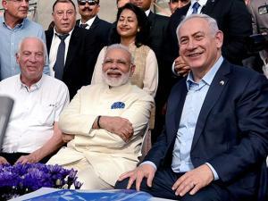 Prime Minister, Narendra Modi with  his Israeli counterpart  Benjamin Netanyahu
