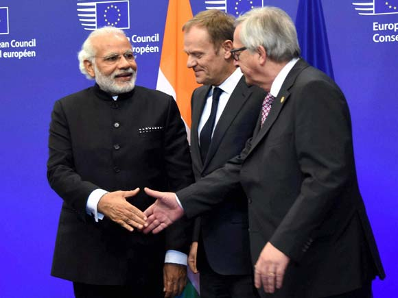 PM Narendra Modi,European Union,Terrorism, Narendra Modi, Modi-Brussels visit, India-EU ties, European Union, Modi three-nation tour,World, Belgium, diplomacy, international relations