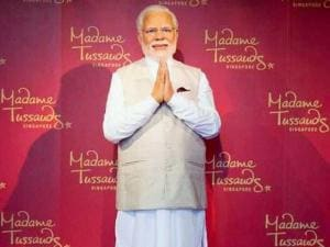 Prime Minster Narendra Modi's wax statue installed at Singapore's Madame Tussauds museum