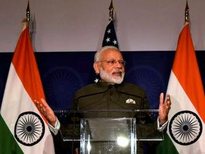 Prime Minister, Narendra Modi addressing at the United States Community Reception