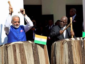 Image result for photos of narendra modi and magufuli
