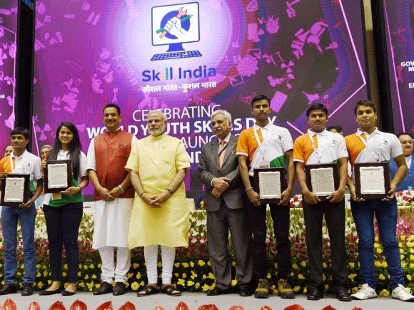 Narendra Modi, Pradhan Mantri Kaushal Vikas Yojana, PMKVY, Rajiv Pratap Rudy, Arun Jaitley, Manohar Parrikar, World Skills, Skill India, New Delhi