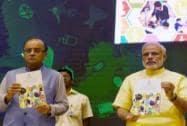 Prime Minister Narendra Modi with Rajiv Pratap Rudy