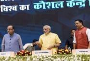 Prime Minister Narendra Modi with Rajiv Pratap Rudy, Arun Jaitley
