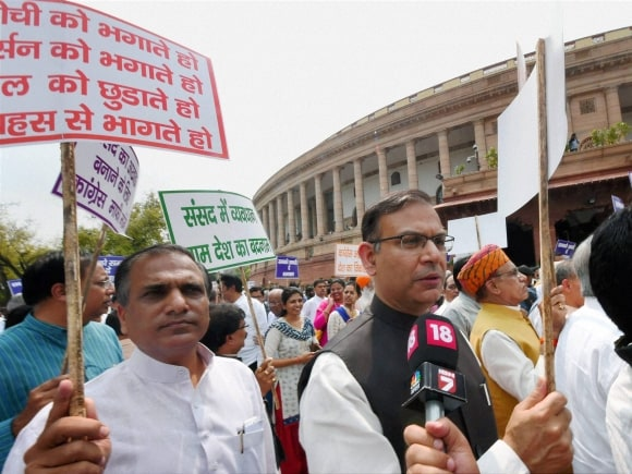 Jayant Sinha, Save Democracy, Vijay Chowk, Parliament House