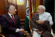Prime Minister Narendra Modi with Surya Kumar Bose