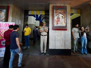 People clicking pictures at New Delhi's iconic theatre Regal Cinema