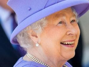 Britian's Queen Elizabeth II, departs following a royal visit to the construction site of the new Bond Street Crossrail Station in central London