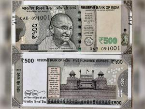 New currency notes of Rs 500