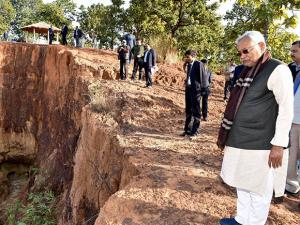 Bihar Chief Minister Nitish Kumar visit Manguraha forest in West Champaran