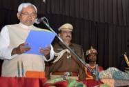 Nitish Kumar shapath vidhi samaroh at Raj Bhawan in Patna