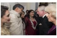 Nobel Peace Prize winner Kailash Satyarthi attend the British Asian Trust dinner in London