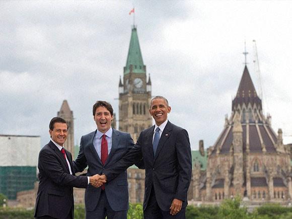 North American Summit, North American Leaders Summit, Justin Trudeau, Barack Obama, Enrique Pena Nieto, Canada Prime Minister, U.S. President, Mexico President