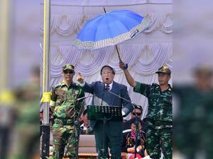 TH Muivah, General Secretary of the NSCN-IM addresses the 38th Naga Republic Day