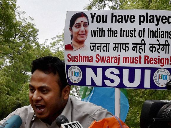 Sushma Swaraj, NSUI, Youth Congress, UK, Former IPL Chief, Lalit Modi, Narendra Modi, Congress, PM Modi, BJP, Prime Minister of India, Foreign Minister of India, Portugal, Travel, New Delhi, Bengaluru