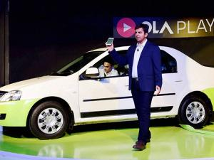 Bhavish Aggarwal, CEO & Co-founder, OLA at the launch of the Ola Play