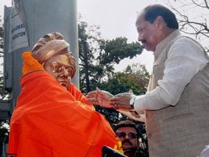 Jharkhand Chief Minister Raghubar Das pays tribute to Swami Vivekananda on his 154th birth anniversary in Ranchi