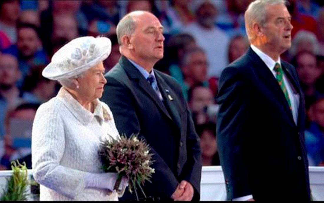 Britain's Queen Elizabeth II, Celtic Park, opening ceremony, Commonwealth Games, Glasgow, Scotland