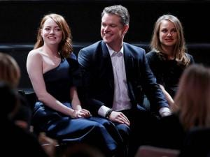 Emma Stone, from  Matt Damon and Natalie Portman attend the 89th Academy Awards Nominees Luncheon at The Beverly Hilton Hotel