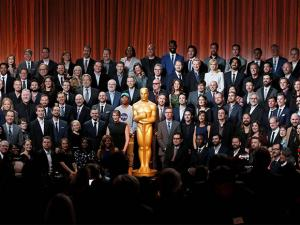 Nominees of the 89th Academy Awards pose for a group portrait at the Nominees Luncheon at The Beverly Hilton Hotel
