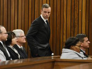 Pistorius appeared in a South African court on Monday for a sentencing hearing after the double-amputee Olympian was convicted of murdering girlfriend Reeva Steenkamp