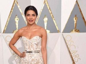Priyanka Chopra arrives at the Oscars