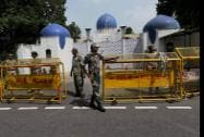 Securirty outside Pakistan High Commission in New Delhi