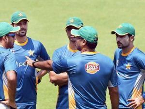 Pakistan cricket team at a practice session_for the upcoming T 20 World Cup at Eden Garden