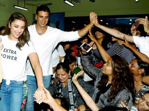 Parineeti Chopra and Akshay Kumar at the Graduation ceremony of Women's Self Defense Center