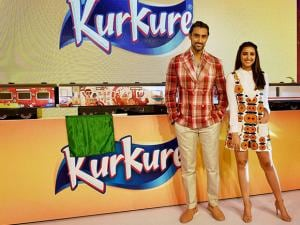 Bollywood actress Parineeti Chopra and actor Kunal Kapoor during a promotional event in New Delhi (3)