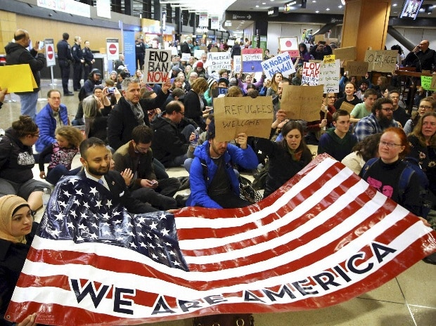 US immigration, Donald Trump, protests, airports, Syria, Iraq, Iran, Libya,  Sudan, Yemen, Somalia