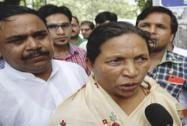Rukmini Devi Nishad, sister of Phoolan Devi after the judgement in Phoolan Devi murder case