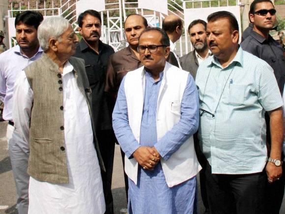 Jammu and Kashmir Chief Minister, Mufti Mohammad Sayeed, Deputy Chief Minister, Nirmal Singh, Kaman Aman Setu bridge