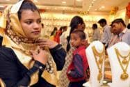 "Women purchasing gold ornaments on the occasion of ""Akshaya Tritiya"" in Coimbatore in Tamil Nadu"